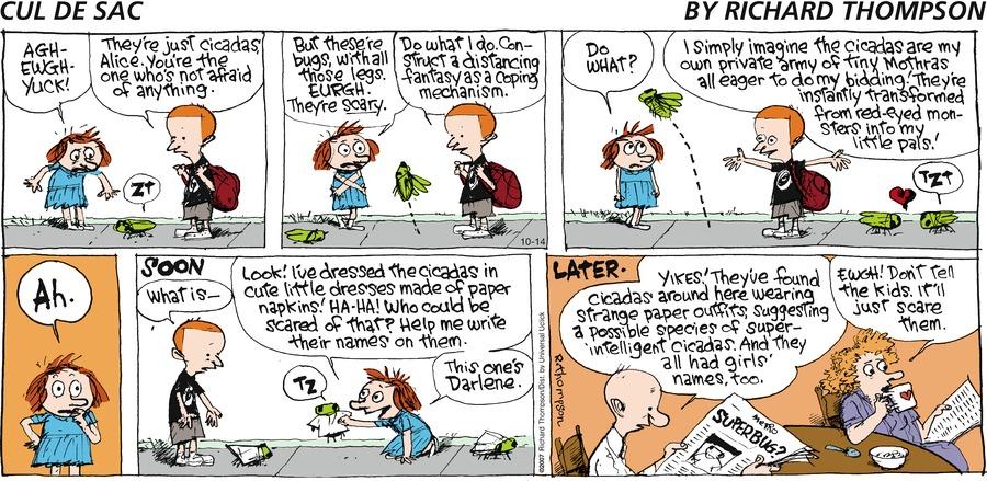 Cul de Sac Comic Strip for October 14, 2012