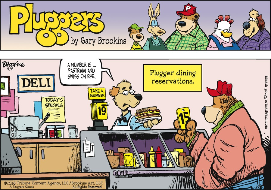 Pluggers Comic Strip for April 08, 2018