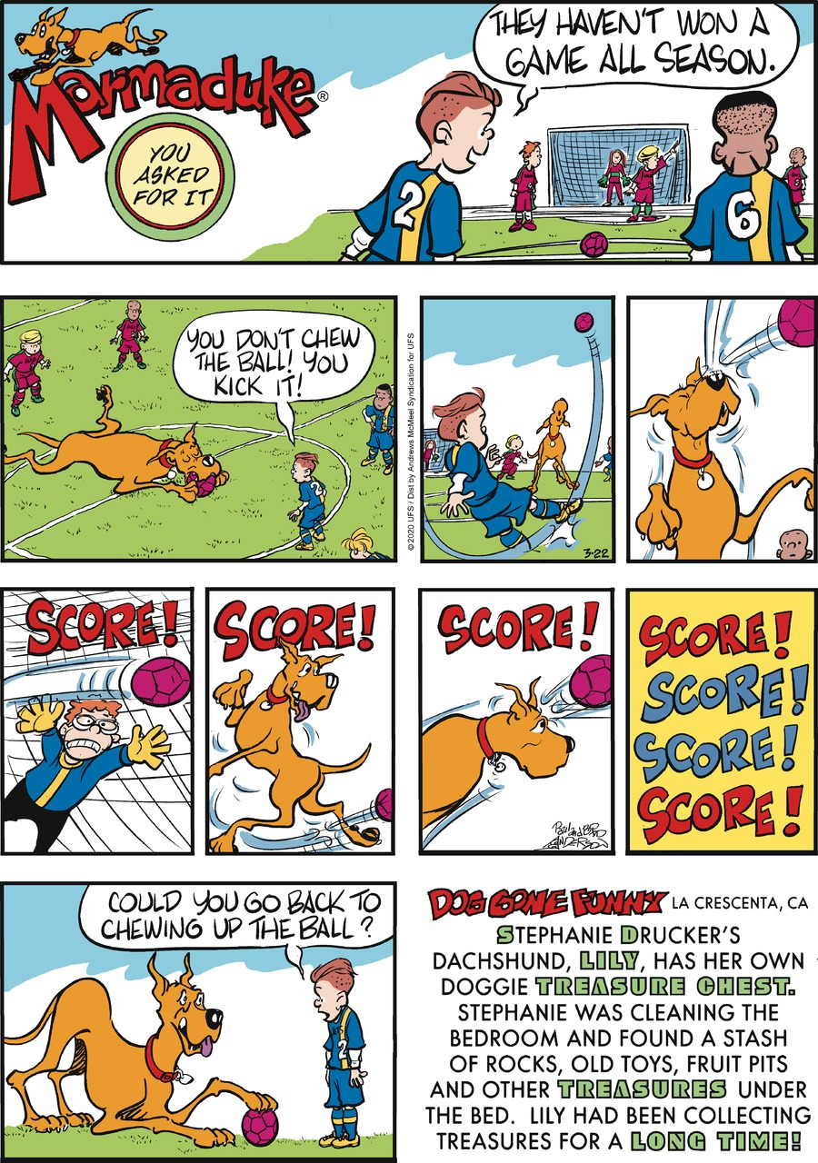 Marmaduke Comic Strip for March 22, 2020