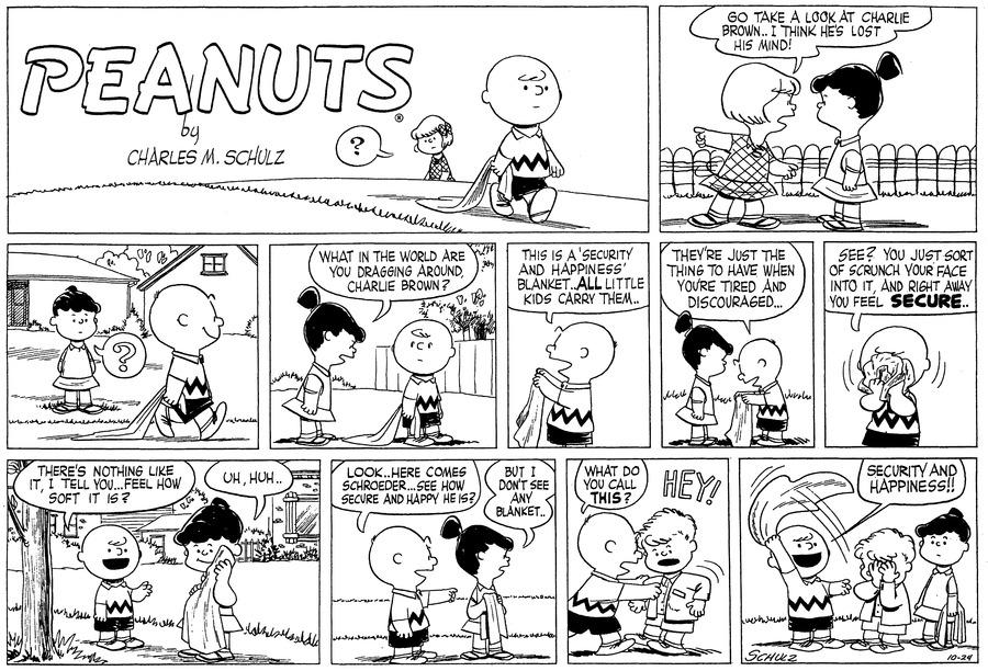 Peanuts Comic Strip for October 24, 1954