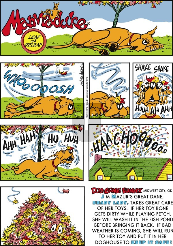Marmaduke on Sunday October 16, 2016 Comic Strip