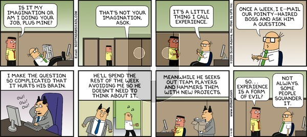 Dilbert - Sunday November 16, 2008 Comic Strip