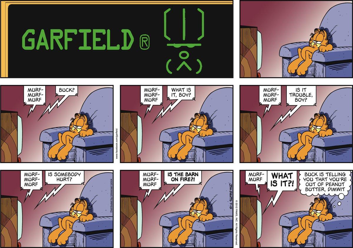 Garfield Comic Strip for July 15, 2012