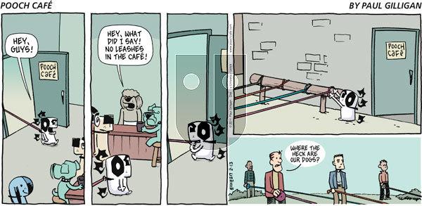 Pooch Cafe on Sunday February 13, 2011 Comic Strip