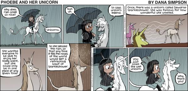 Phoebe and Her Unicorn on Sunday April 29, 2018 Comic Strip