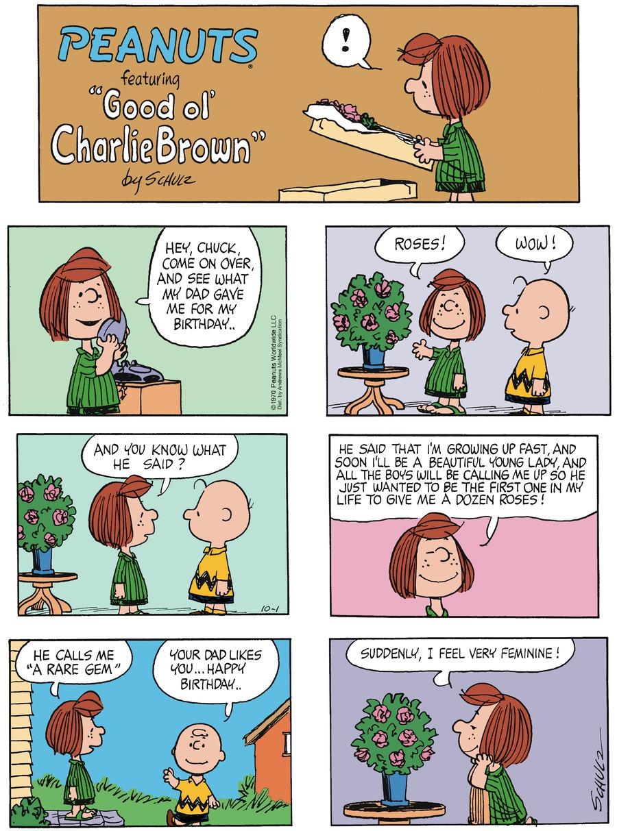Peanuts for Oct 1, 2017 Comic Strip