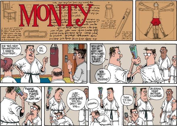 Monty on Sunday September 1, 2013 Comic Strip