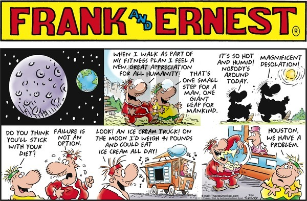 Frank and Ernest on Sunday July 14, 2019 Comic Strip
