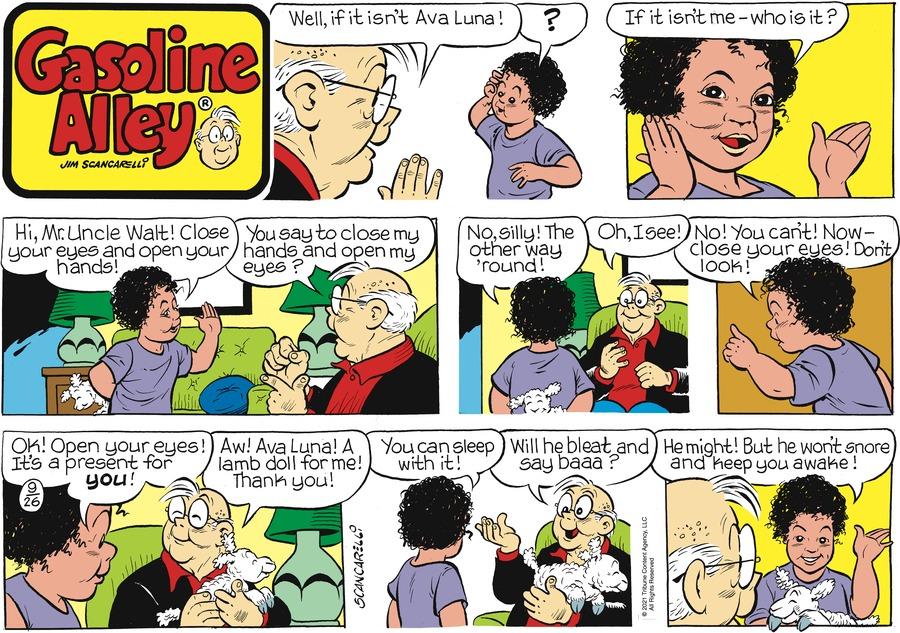 Gasoline Alley Comic Strip for September 26, 2021