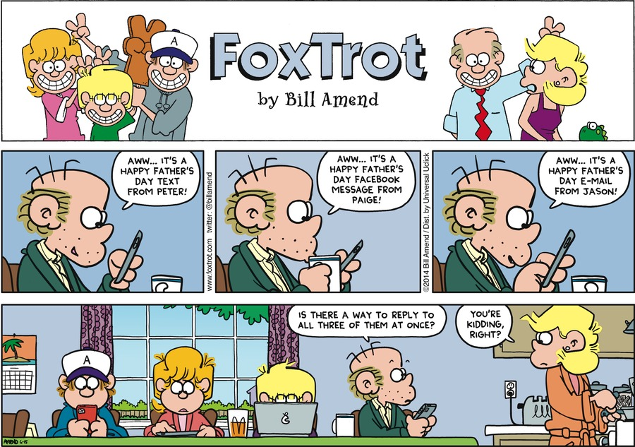 FoxTrot Comic Strip for June 15, 2014
