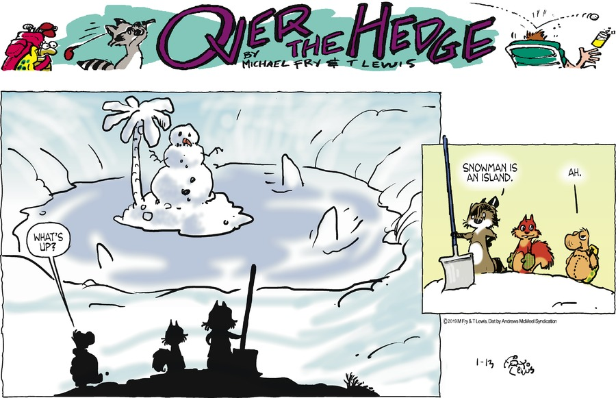 Over the Hedge Comic Strip for January 13, 2019