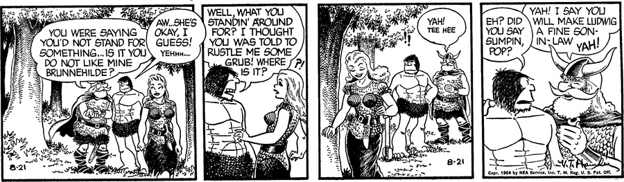 Alley Oop Comic Strip for August 21, 1954