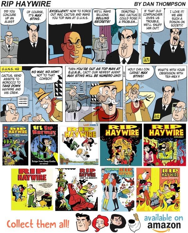 Rip Haywire on Sunday September 16, 2018 Comic Strip