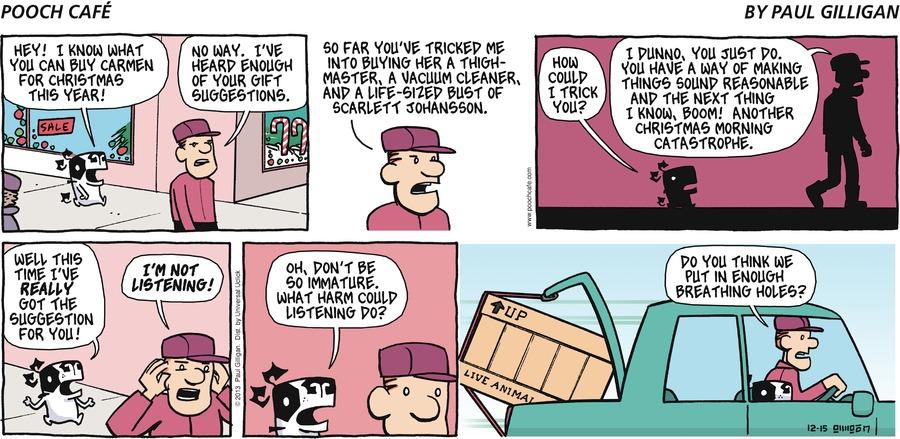 Pooch Cafe Comic Strip for December 15, 2013