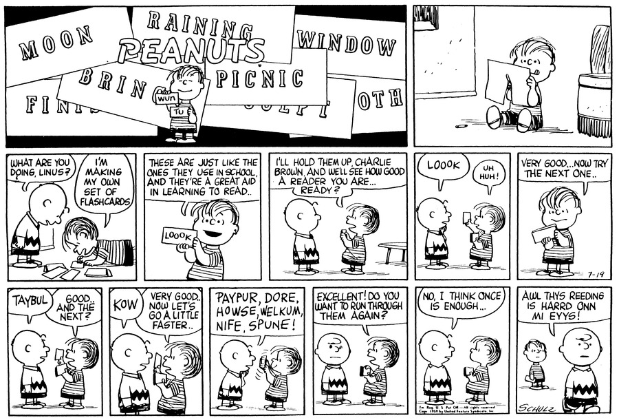 Peanuts Comic Strip for July 19, 1959