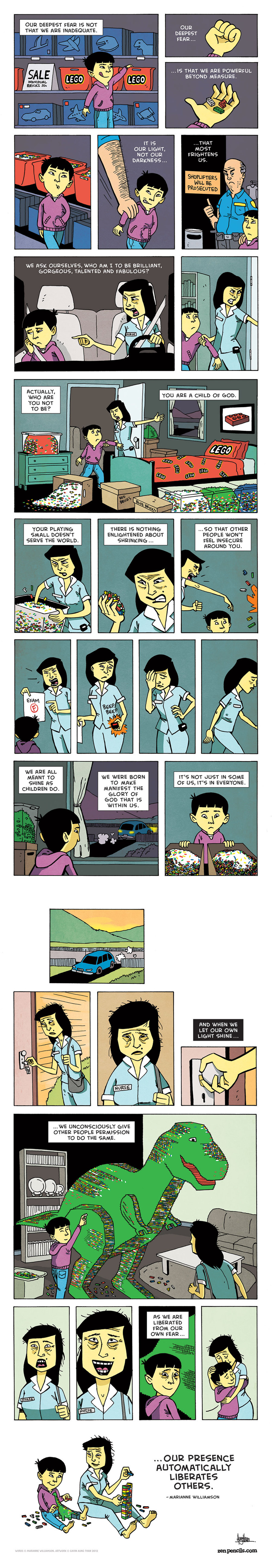 Zen Pencils for Nov 8, 2013 Comic Strip