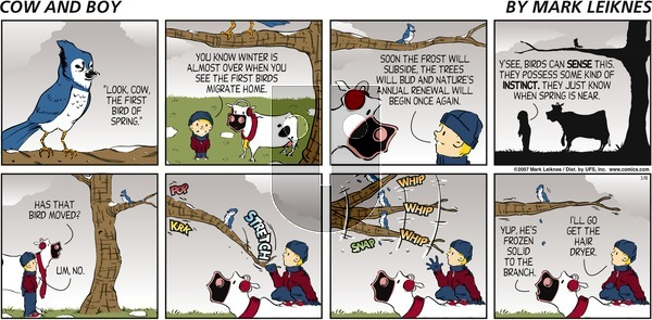 Cow and Boy Classics on Wednesday April 21, 2021 Comic Strip