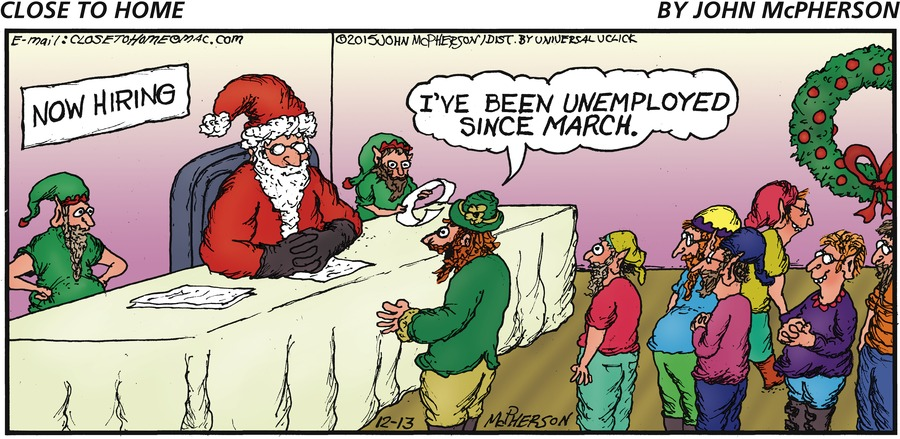 Man: I've been unemployed since March.