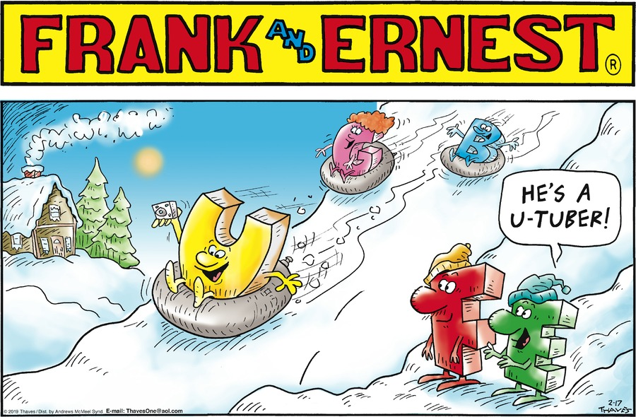 Frank and Ernest Comic Strip for February 17, 2019
