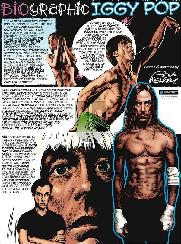 Biographic on Sunday April 16, 2017 Comic Strip