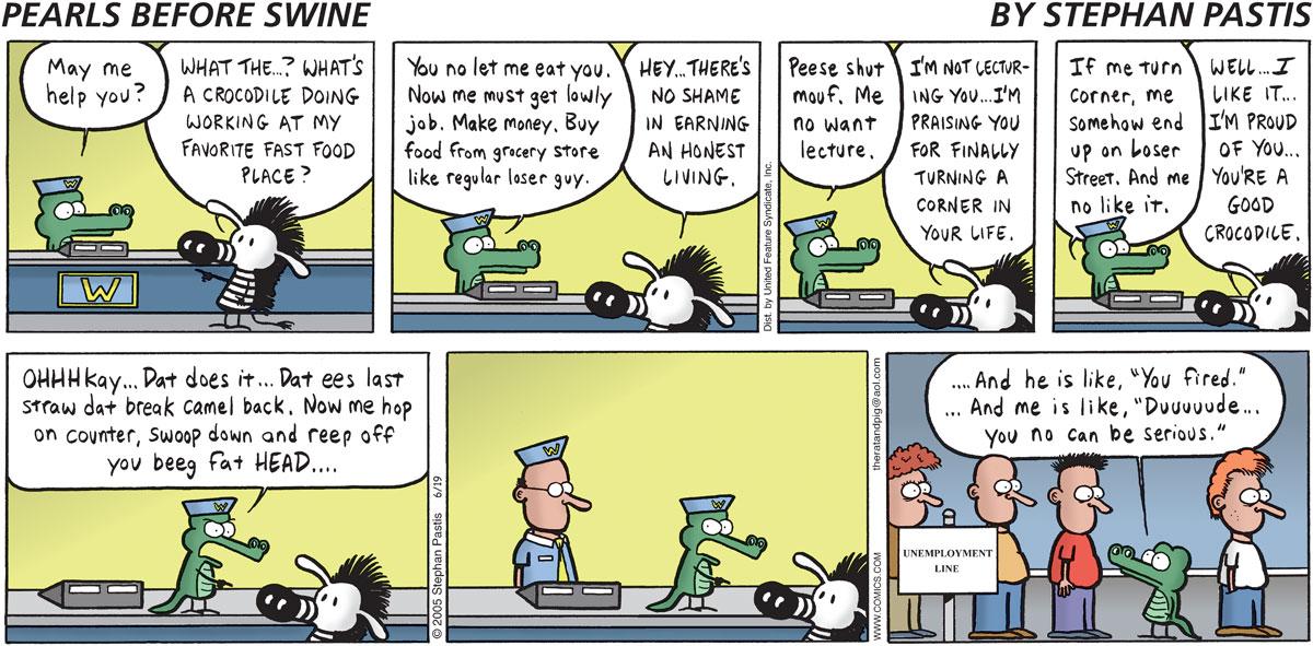 Pearls Before Swine Comic Strip for June 19, 2005