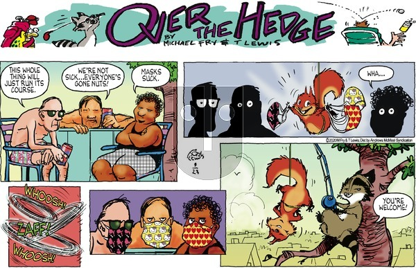 Over the Hedge on Sunday August 23, 2020 Comic Strip