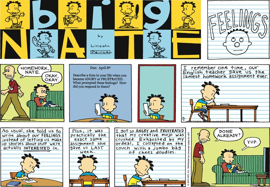 Big Nate Comic Strip for April 07, 2013