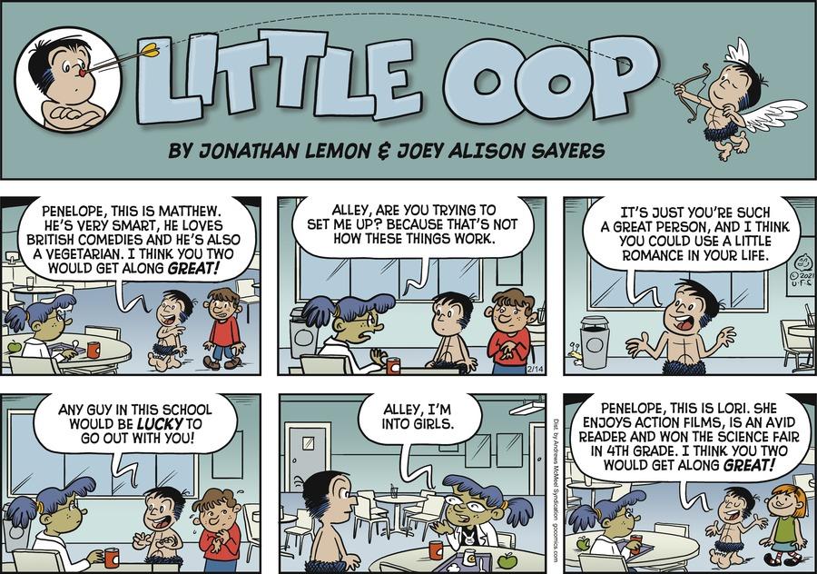 Alley Oop by Jonathan Lemon and Joey Alison Sayers on Sun, 14 Feb 2021