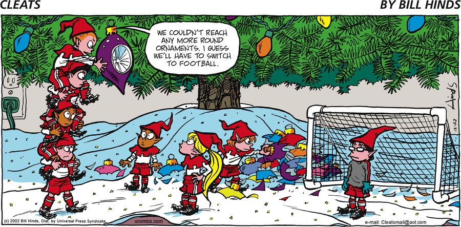 Cleats Comic Strip for December 22, 2002