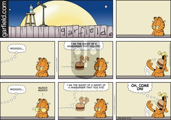Garfield - Sunday October 20, 2019 Comic Strip