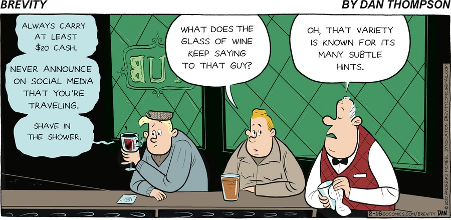 Brevity Comic Strip for February 16, 2020