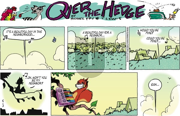 Over the Hedge on Sunday May 3, 2020 Comic Strip