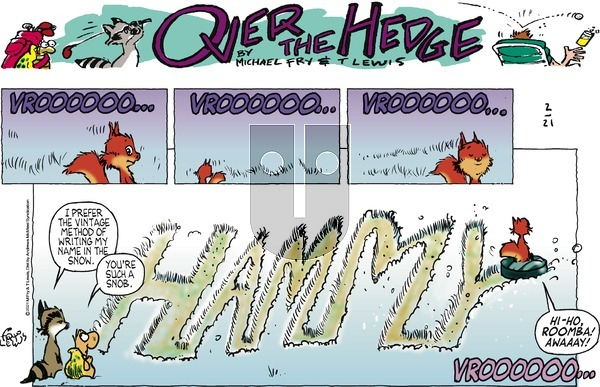 Over the Hedge on Sunday February 21, 2021 Comic Strip
