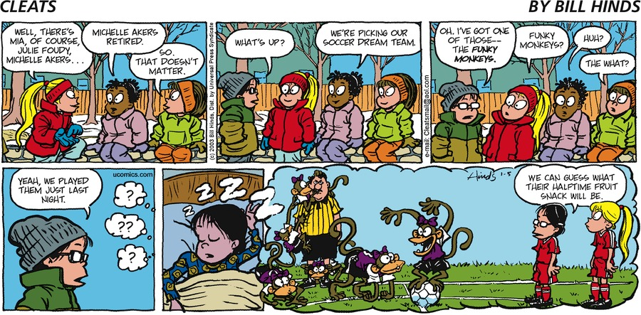 Cleats Comic Strip for January 05, 2003