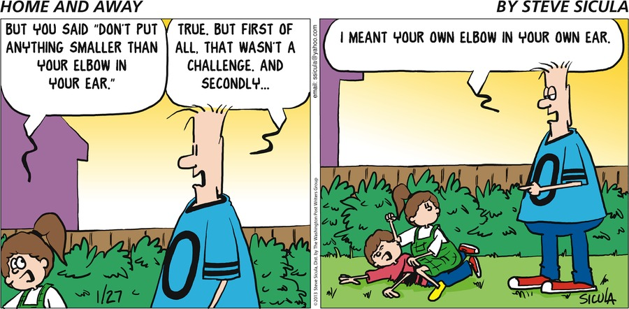 Home and Away for Jan 27, 2013 Comic Strip