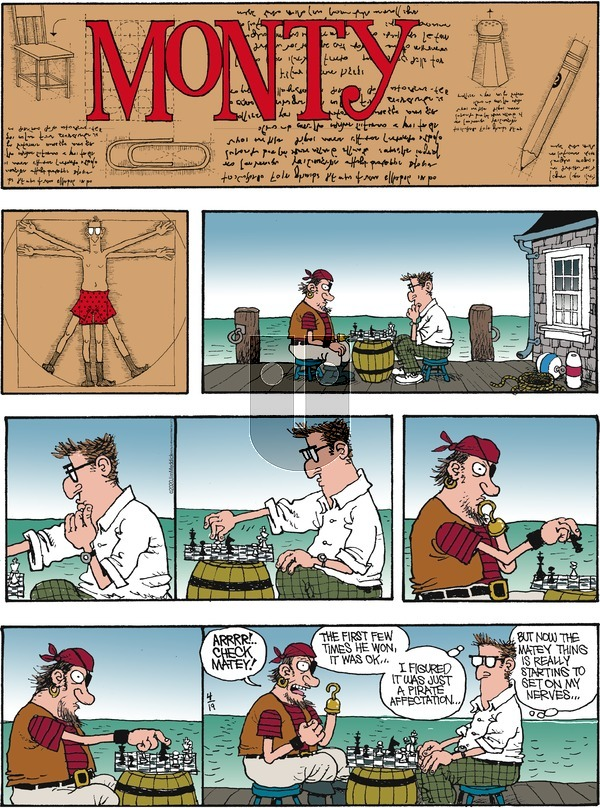 Monty on Sunday April 19, 2020 Comic Strip
