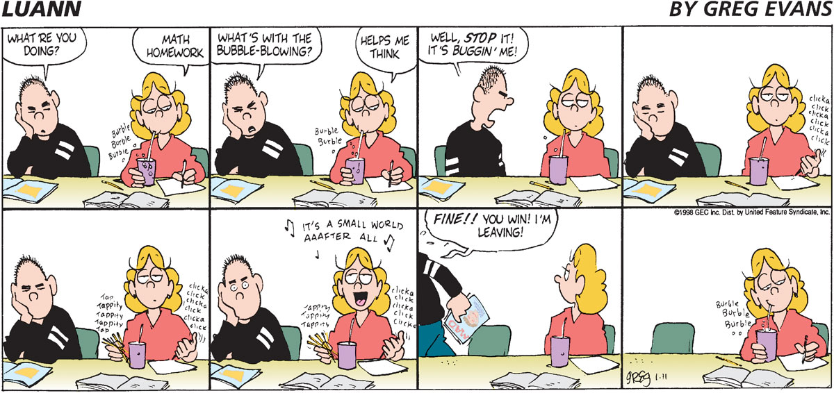 Luann Comic Strip for January 11, 1998