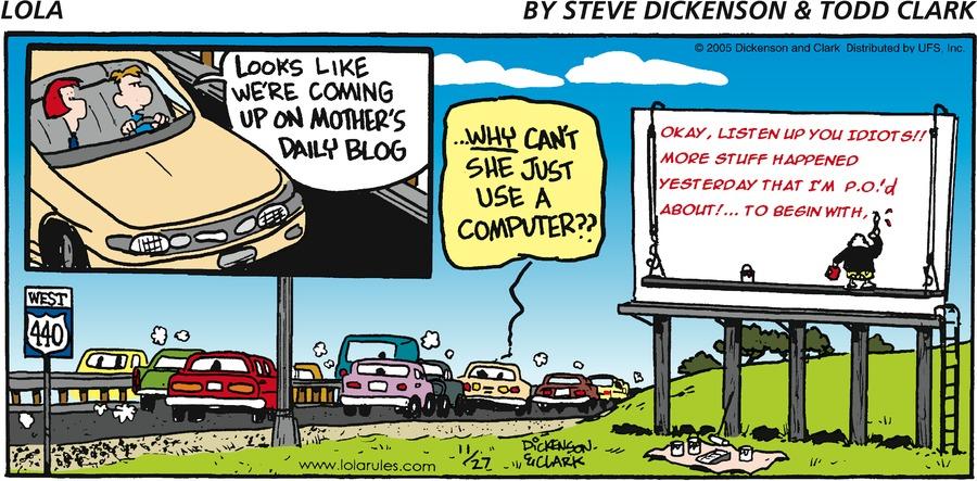 Lola for Nov 27, 2005 Comic Strip