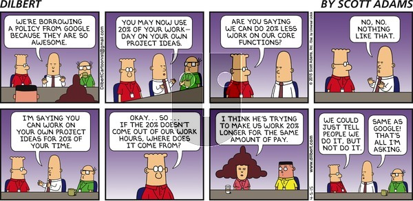 Dilbert on Sunday April 5, 2015 Comic Strip