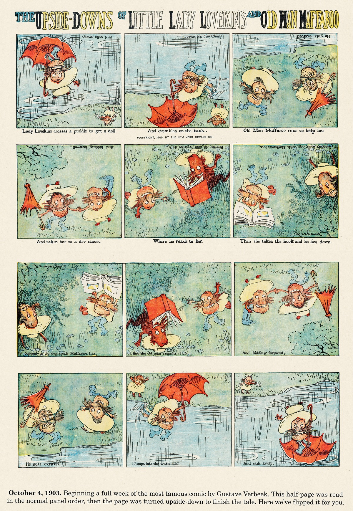 Origins of the Sunday Comics Comic Strip for April 13, 2014