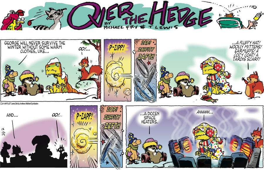Over the Hedge Comic Strip for December 15, 2019