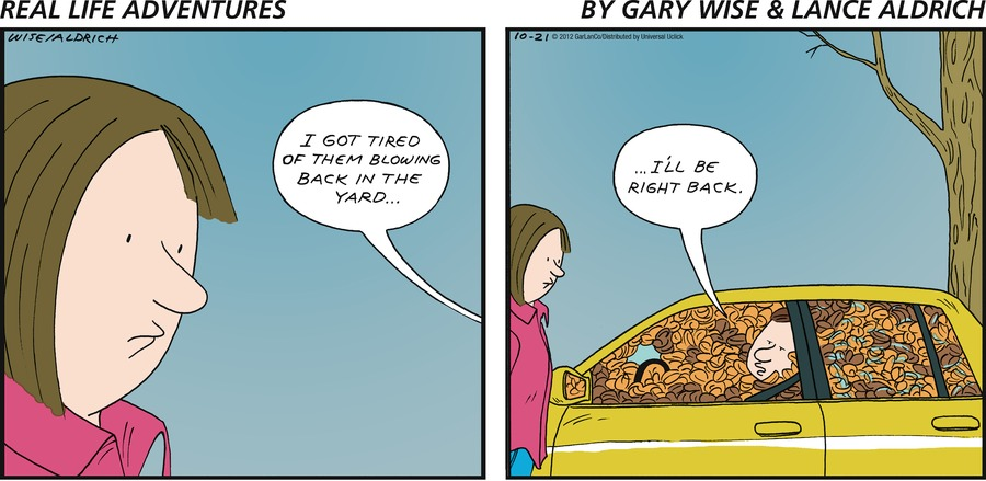 Real Life Adventures Comic Strip for October 21, 2012