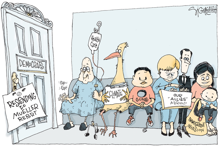 Signe Wilkinson by Signe Wilkinson for March 27, 2019