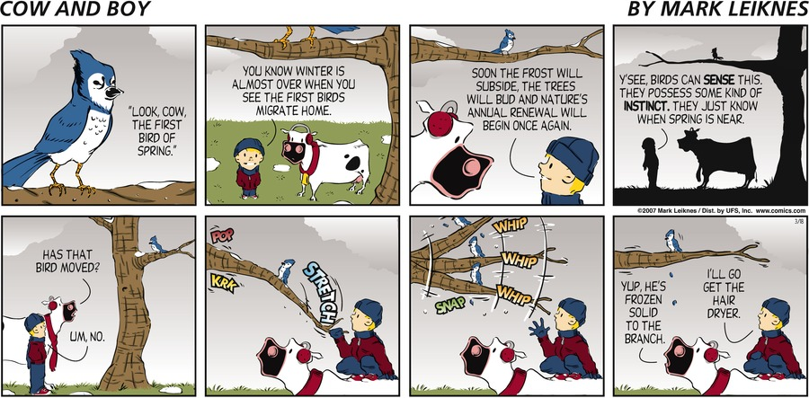 Cow and Boy Classics for Mar 30, 2014 Comic Strip