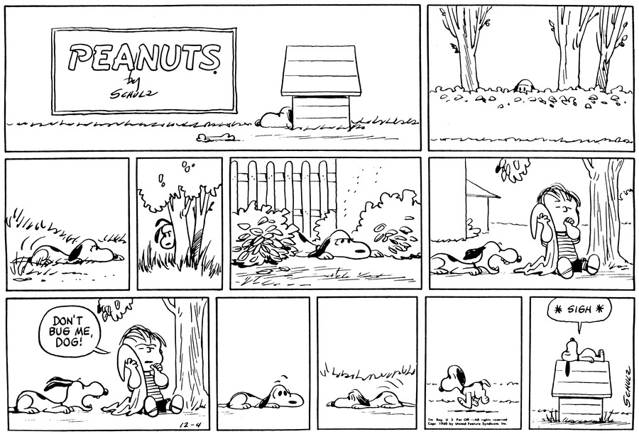 Peanuts Comic Strip for December 04, 1960