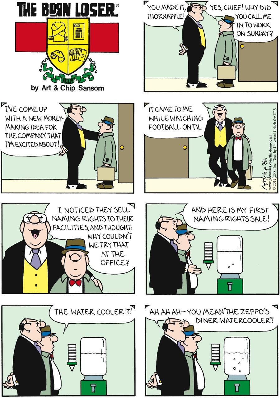 The Born Loser for Sep 16, 2012 Comic Strip