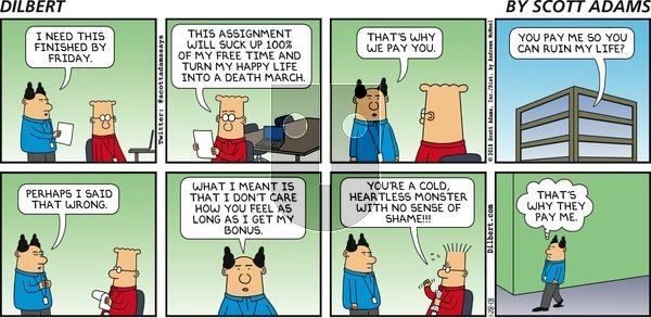 Dilbert on Sunday January 28, 2018 Comic Strip
