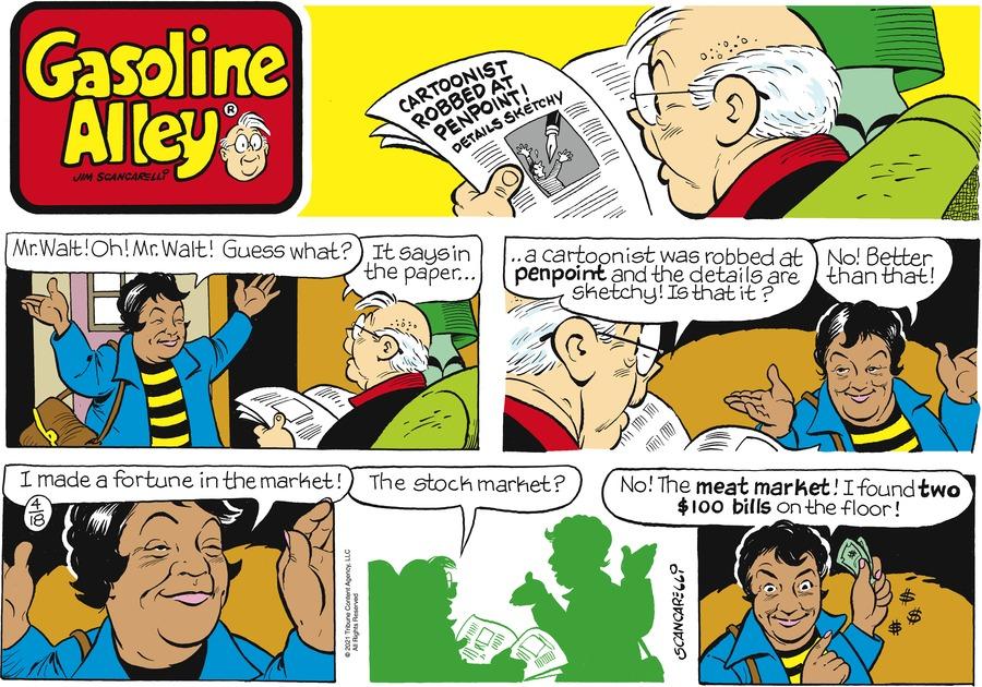 Gasoline Alley Comic Strip for April 18, 2021