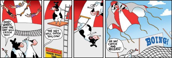 2 Cows and a Chicken for Nov 1, 2013 Comic Strip