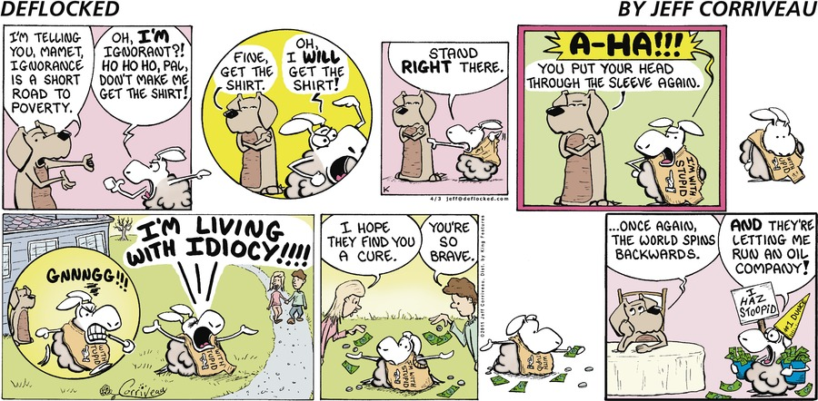 DeFlocked Comic Strip for April 03, 2011